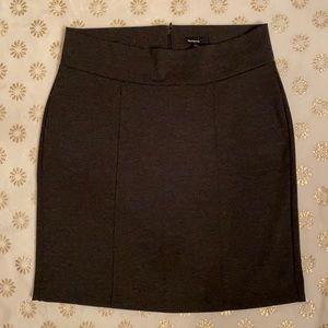 Gap Maternity Charcoal Heather Ponte Skirt